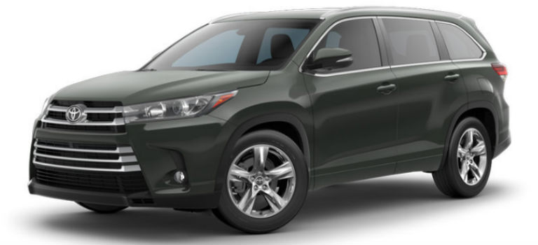 toyota highlander exterior color options