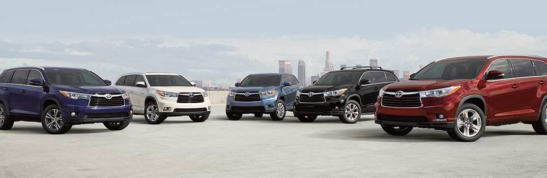 Color Choices On The 2016 Toyota Highlander