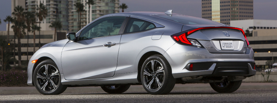 2017 Honda Civic Coupe in silver side view