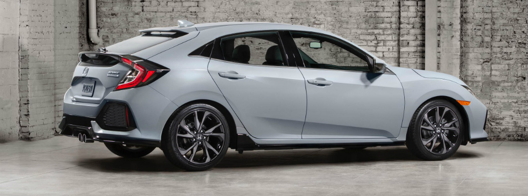 2017 Honda Civic Hatchback Sport with a moonroof