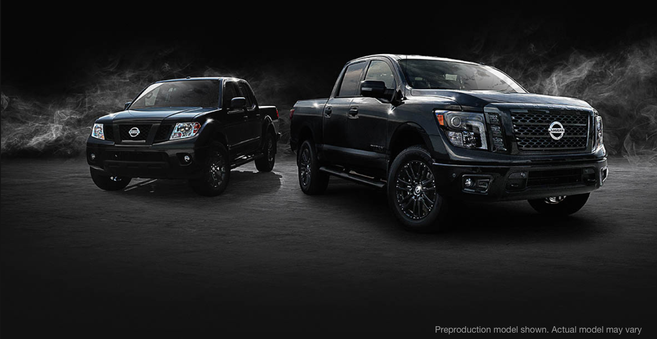 Woodfield Nissan presents 2018 Nissan Midnight Edition Trucks