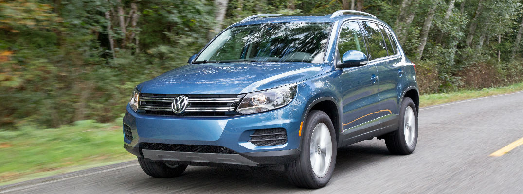 Blue exterior - List of 2017 Volkswagen Tiguan Standard and Available Features