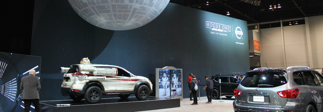 Nissan Rogue X-Wing Fighter display at CAS 2017