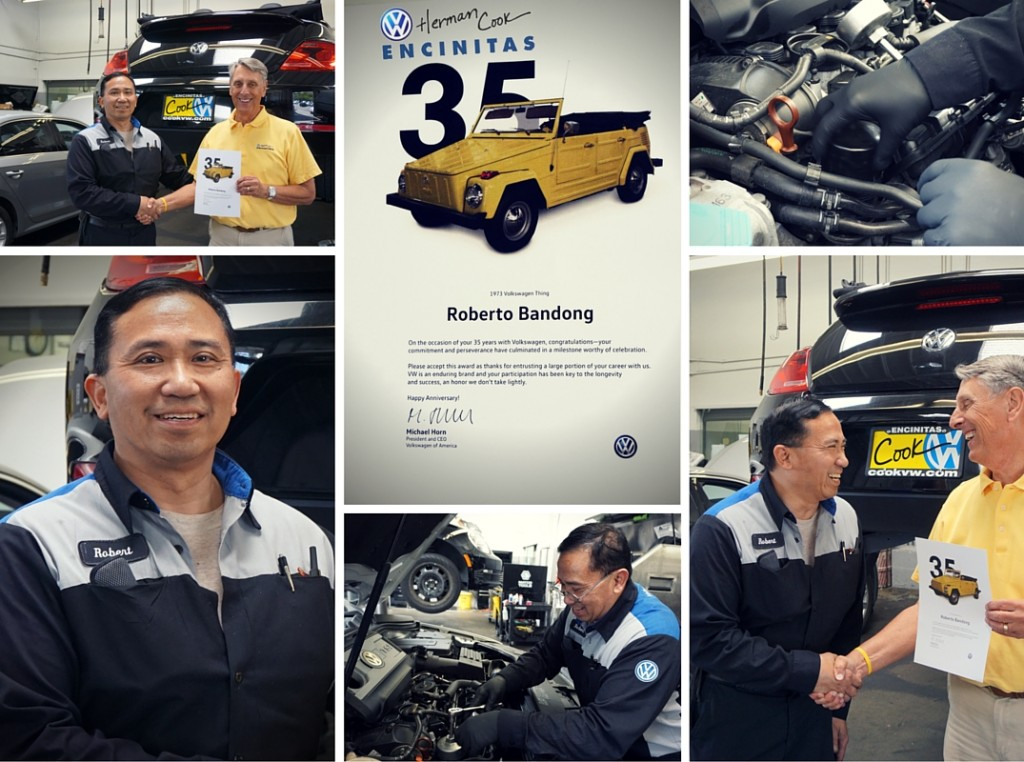 Roberto Bandong Celebrates 35 years at Herman Cook VW
