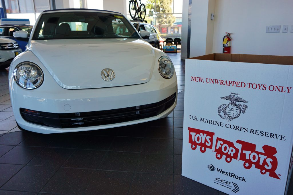 Toys for Tots Box in Showroom