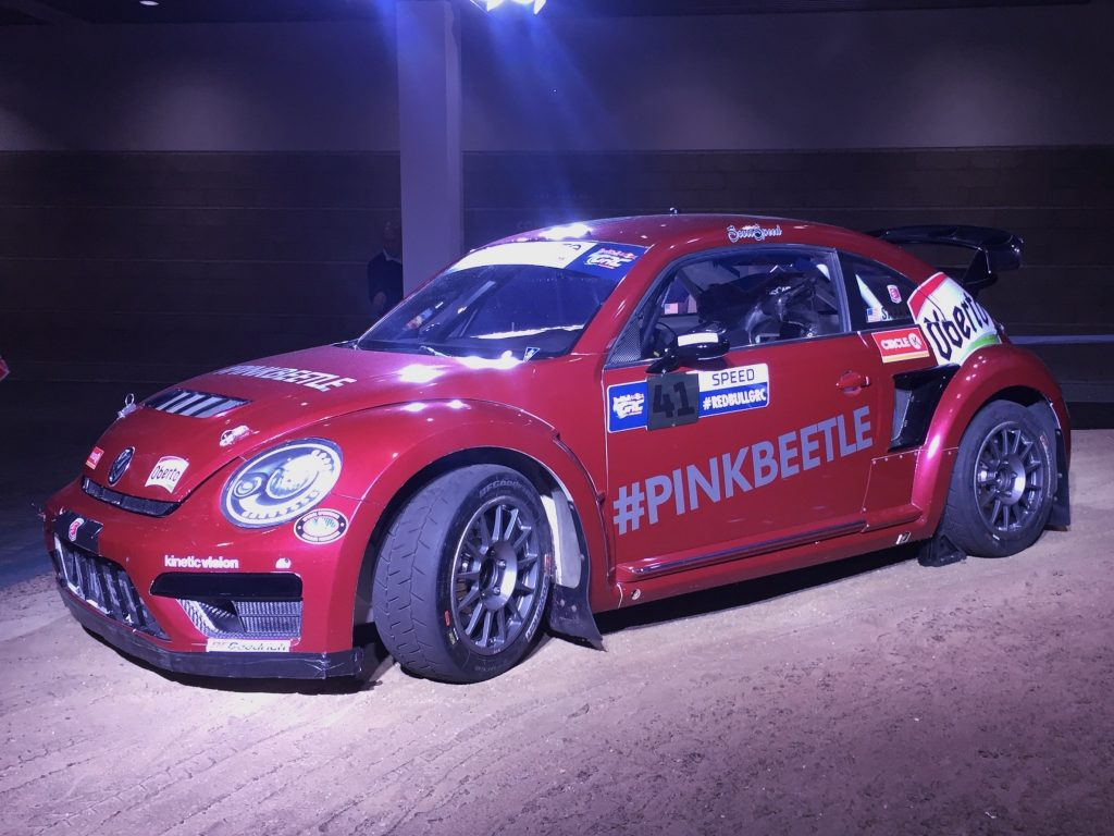 #PinkBeetle Rally Car