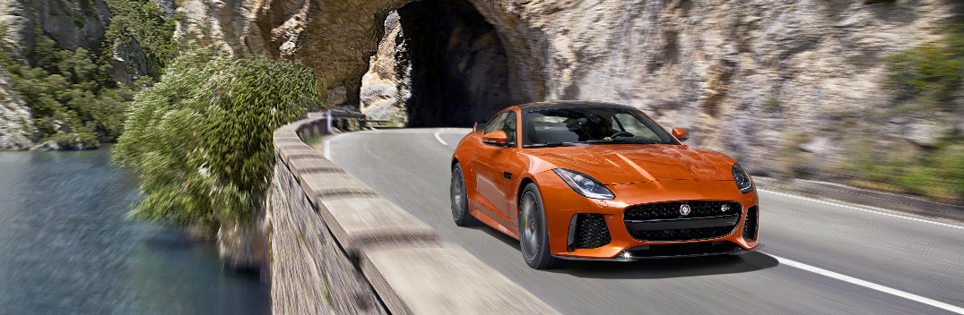 What is the top speed of the 2017 Jaguar F-TYPE SVR?