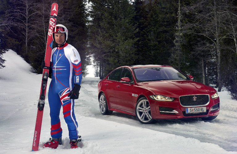 Jaguar to Help Olympic Skier Graham Bell Become Fastest Man On Skis