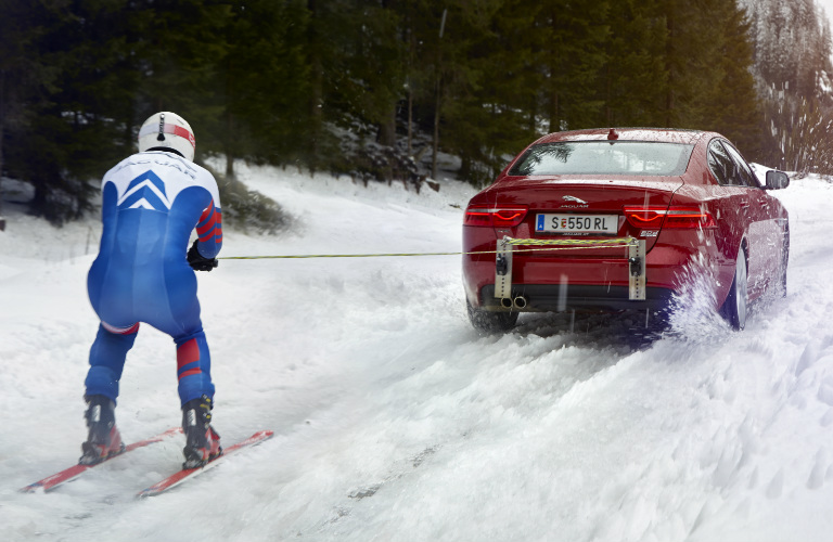 Olympic Skier Graham Bell - Fastest Man on Skis and 2017 Jaguar XE AWD