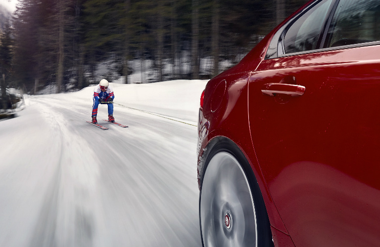 Olympic Skier Graham Bell - Skijoring Behind a 2017 Jaguar XE AWD