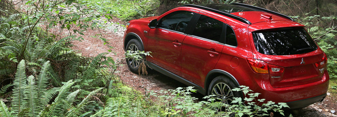 2017 Mitsubishi Outlander Sport driving through the jungle with AWC