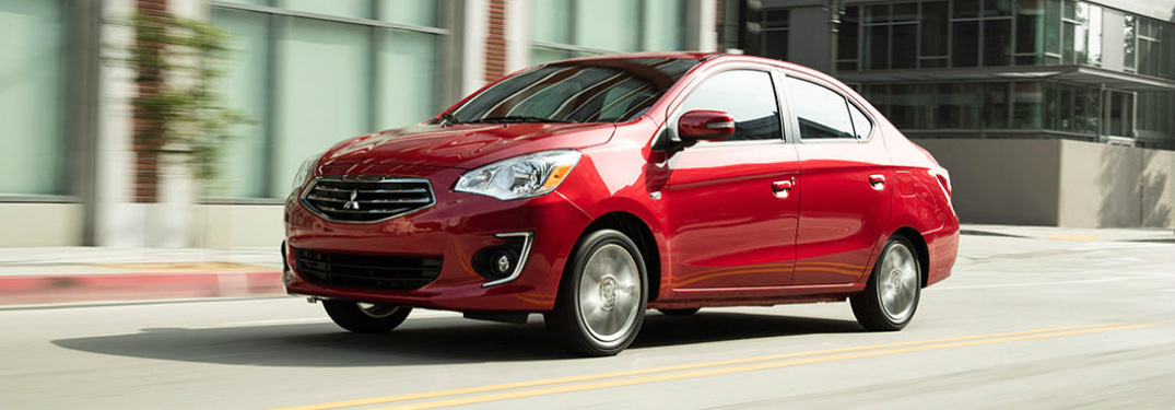 2017 Mitsubishi Mirage G4 in infrared sideview