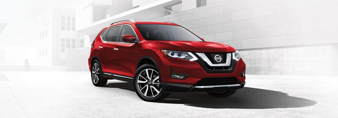 Red 2017 Nissan Rogue
