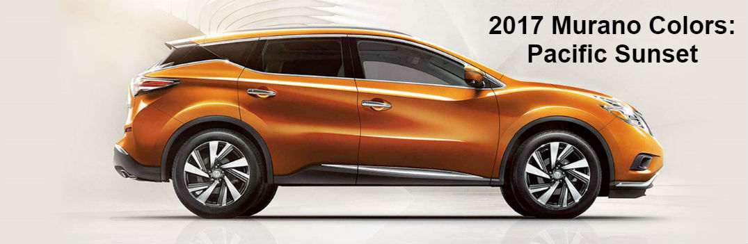 2017.5 Nissan Murano exterior paint color options Pacific Sunset