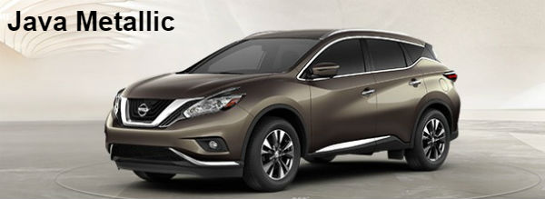 Nissan Murano 2017 Red >> Exterior and Interior Color Options 2017.5 Nissan Murano SUV