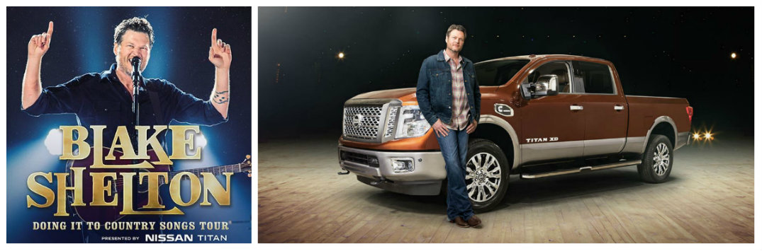 Nissan Titan Take Me to Blake Sweepstakes enter and see Blake Shelton concert