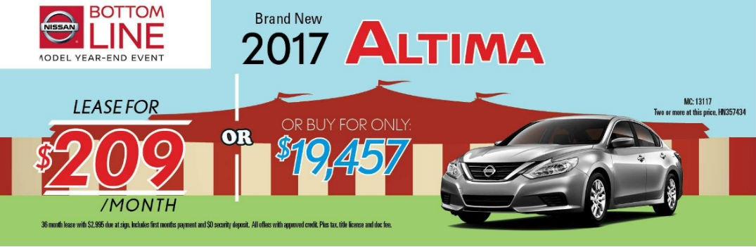 2017 Nissan lease and sale specials Altima Rogue Sentra and Rogue Sport Chesterton IN