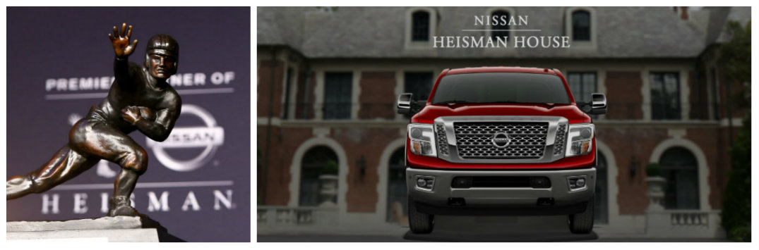 """Nissan Heisman House 2017 """"Downward Dog"""" commercial Danny Wuerffel and Jason White"""