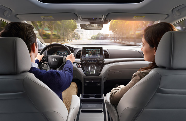 Front seat of 2018 Honda Odyssey