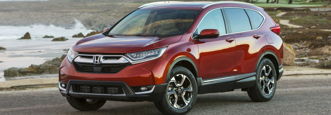 2017 Red Honda CR-V model