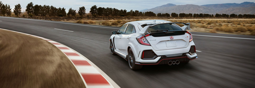 Honda Civic Type R on racetrack