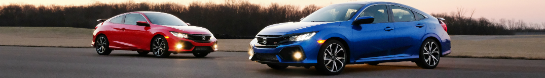 2017 Honda Civic Si Coupe and Sedan side by side