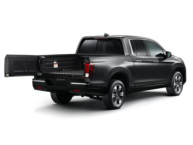 2017 Honda Ridgeline with a dual action tailgate