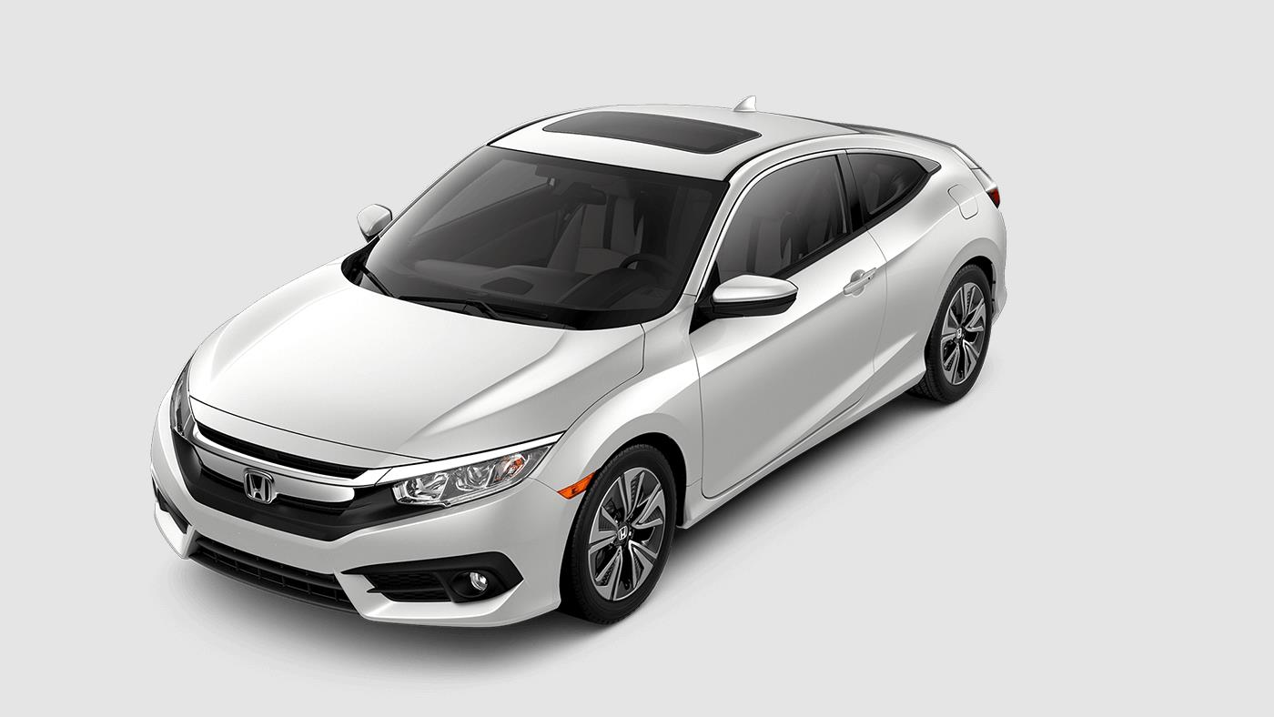 2017 Honda Civic Coupe White Orchid