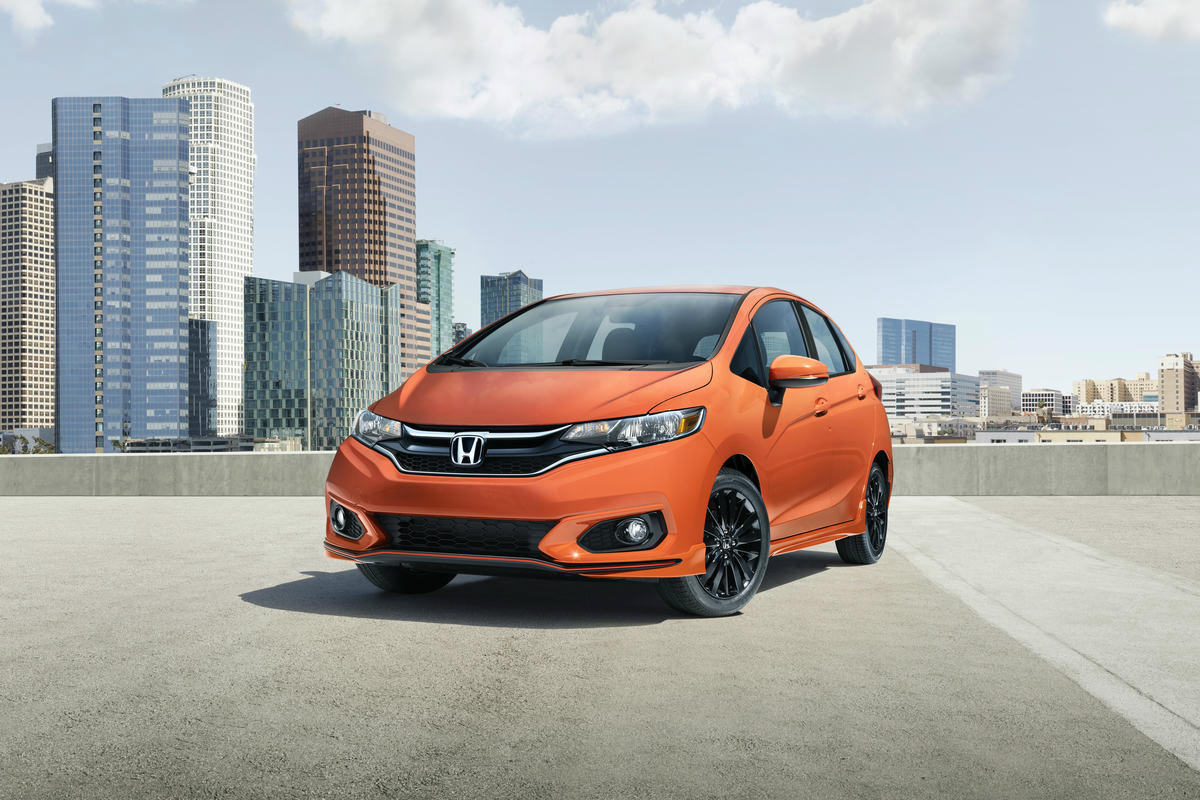 2018 honda fit front orange