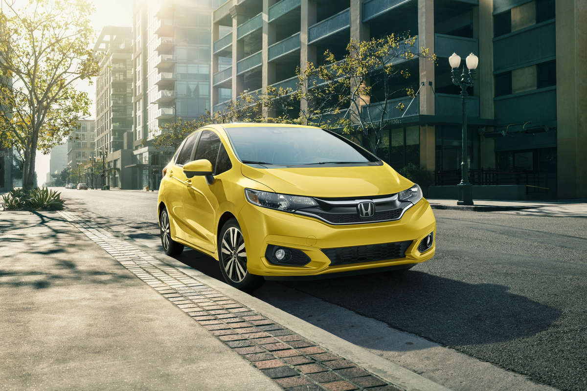 2018 Honda Fit front yellow