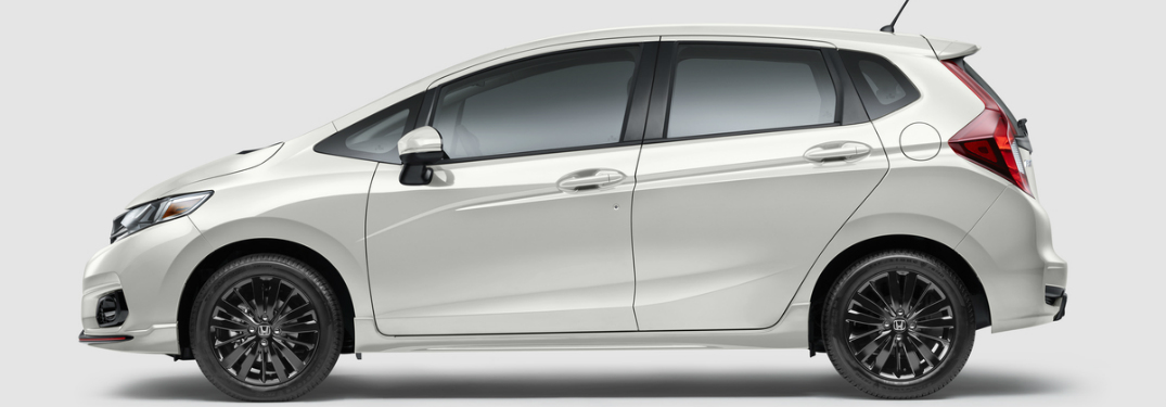 2018 Honda Fit white side view