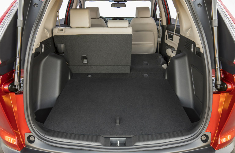 2017 Honda CR-V with 60-40 split folding rear seats part way down