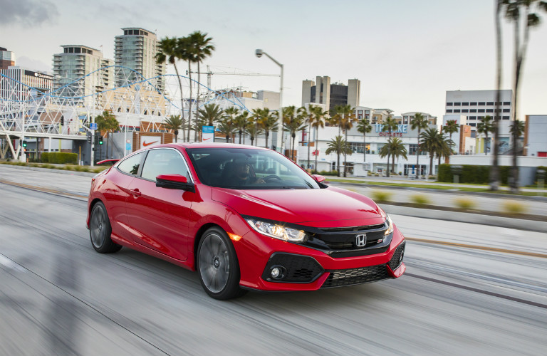 2017 Honda Civic Si Coupe red