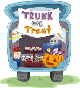 trunk or treat cartoon
