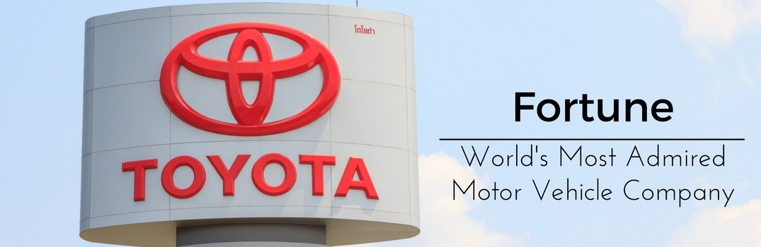 Toyota: Fortune's World's Most Admired Motor Vehicle Company