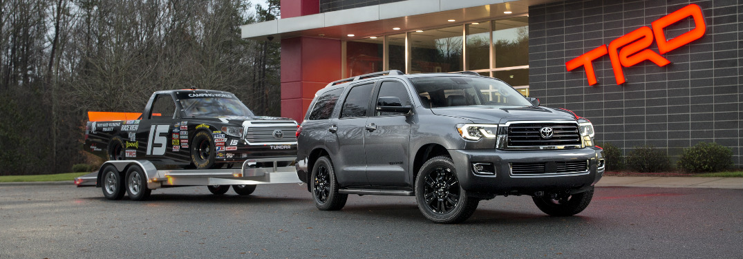 What features does 2018 Toyota Sequoia TRD Sport offer?