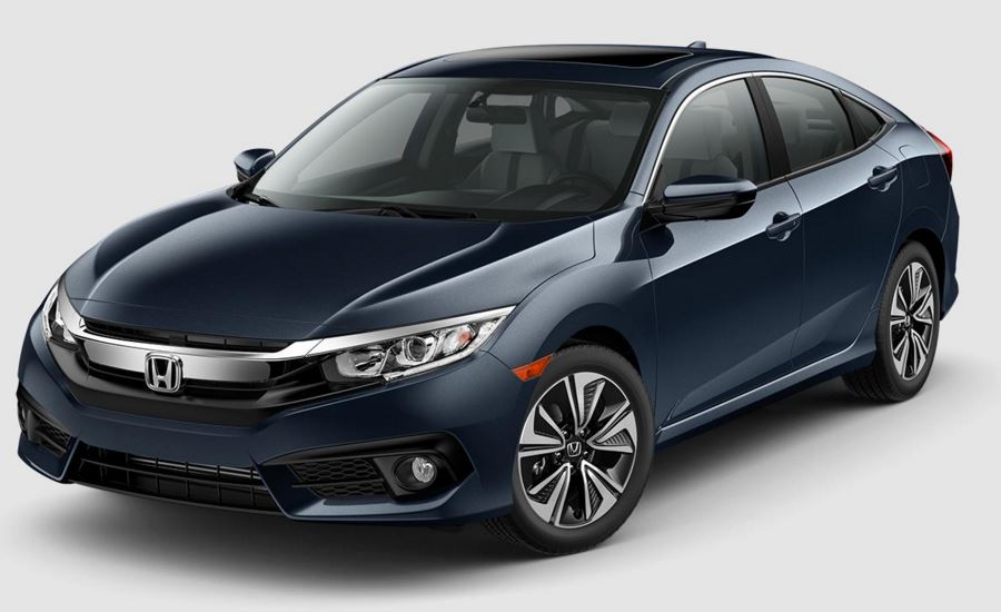 what are the color options for the 2017 honda civic sedan