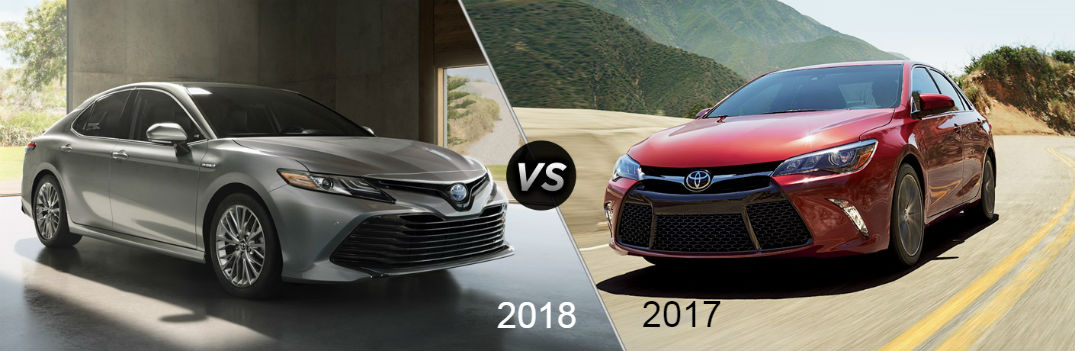 2018 toyota camry vs 2017 toyota camry mpg hp and features. Black Bedroom Furniture Sets. Home Design Ideas