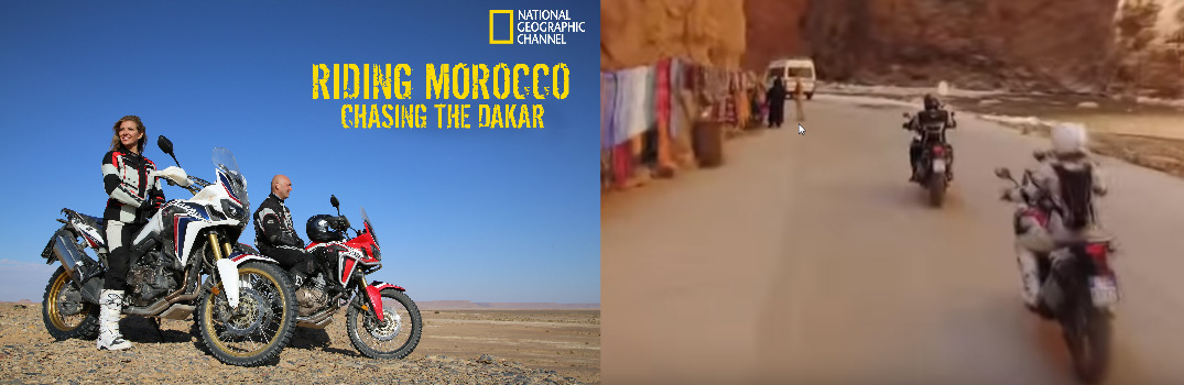 Honda Africa Twin on National Geographic's Riding Morocco