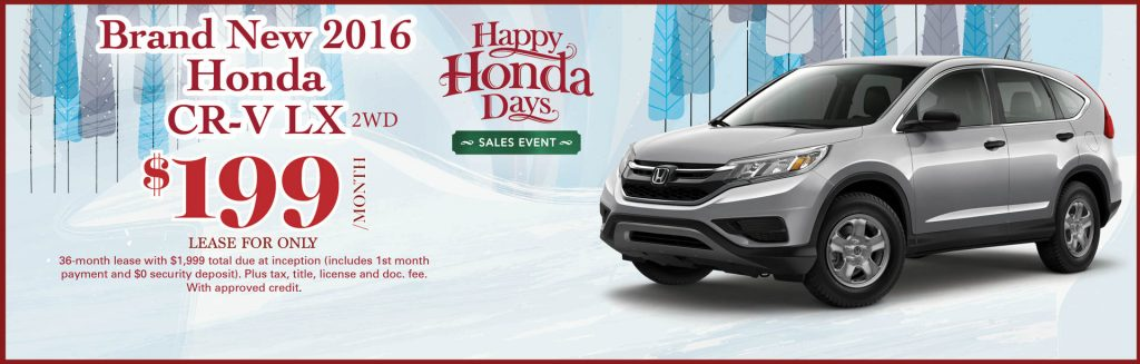 Happy honda days and year end clearance sales event at for Schaumburg honda service coupons
