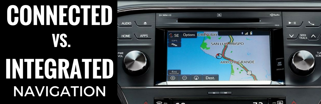 What's the Difference Between Connected and Integrated Navigation on Toyota's Entune System?