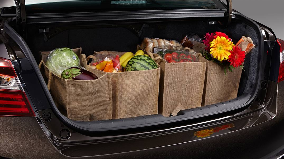 Best honda for a family of four for Honda accord cargo space
