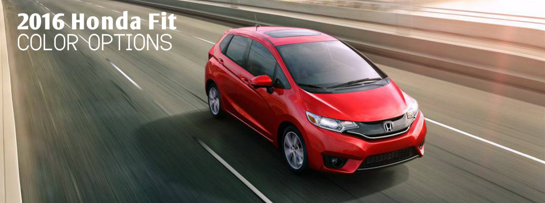 2016 Honda Fit color options