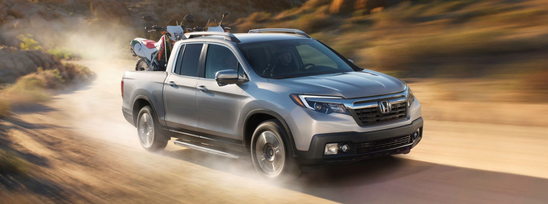 2017 Honda Ridgeline driving through the desert