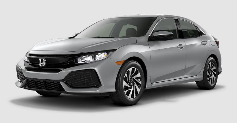 What are the color options for the 2017 Honda Civic Hatchback?