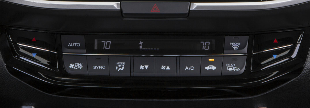 How to use Honda automatic climate control