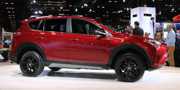 2018 toyota rav. simple 2018 red 2018 toyota rav4 adventure side profile exterior after debut at 2017  chicago auto show in toyota rav