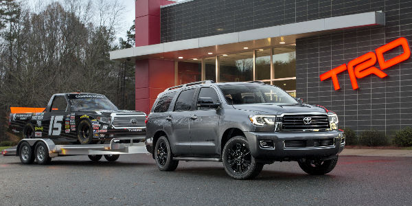 2018 toyota sequoia limited. fine limited silver 2018 toyota sequoia trd sport with trailer in front of building intended toyota sequoia limited