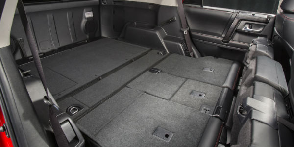 how much cargo space is in the 2017 toyota 4runner. Black Bedroom Furniture Sets. Home Design Ideas