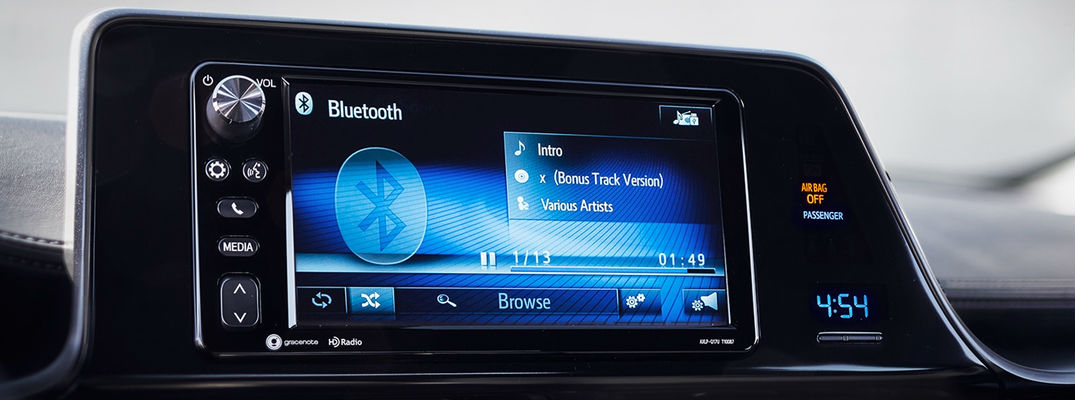 Close up of Toyota C-HR Toyota Entune Display with Bluetooth
